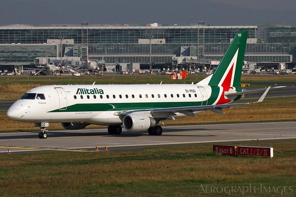 Reg:  EI-RDDOperator:  AlitaliaType:  Embraer ERJ-170-200LR  C/n:  17000334Location:  Frankfurt-am-Main (FRA / EDDF), GermanyPhoto Date:  30 August 2013 Photo ID:  1300856
