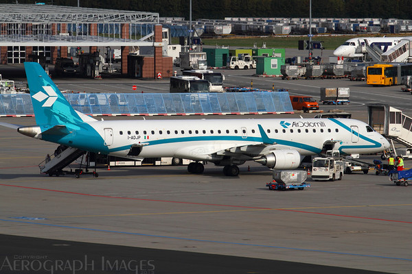 Reg: I-ADJP Operator: Air Dolomiti Type:  Embraer ERJ-195LR		   C/n: 19000578 Location:  Frankfurt-am-Main (FRA / EDDF), Germany        Photo Date: 29 August 2013 Photo ID: 1300793