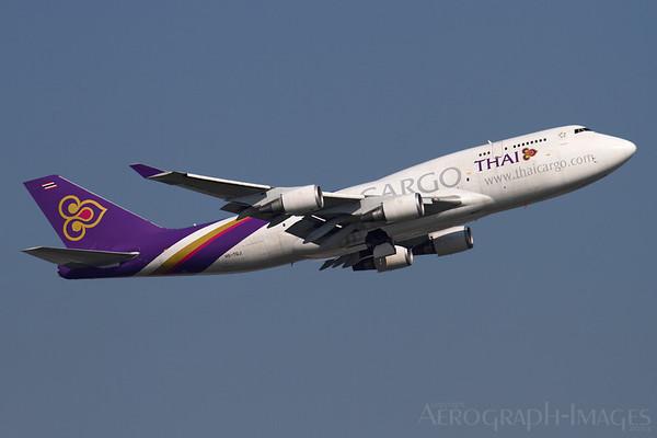 Reg:  HS-TGJOperator:  Thai Airways International CargoType:  Boeing 747-4D7BCF  C/n:  24459 / 777Location:  Framkfurt-am-Main (FRA / EDDF), GermanyPhoto Date:  30 August 2013 Photo ID:  1300855