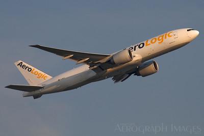 "Reg: D-AALG Operator:  AeroLogic Type:  Boeing 777-FZN		   C/n: 36199 / 894 Location:  Frankfurt-am-Main (FRA / EDDF) - Germany   ""BOX411"" climbing out from Frankfurt's runway 07C early on a glorious summer morning     Photo Date: 30 August 2013 Photo ID: 1300795"