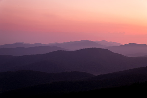 Rolling Hills from the scenic Skyline Drive