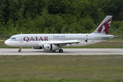 Reg: A7-AHF Operator: Qatar Airways Type:  Airbus A.320-232 C/n: 4496 Location:  Geneva - Cointrin (GVA / LSGG) - Switzerland        Photo Date: 21 May 2013 Photo ID: 1300696