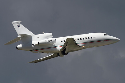 Reg: 3C-ONM Type: Dassault Falcon 900B		   C/n: 167   Government of Equatorial Guinea Falcon departing runway 05 at Geneva.     Photo Date: 17 May 2011 Photo ID: 1200002