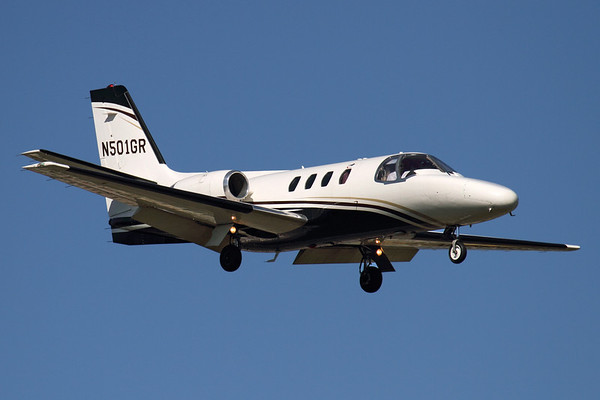 Reg: N501GR Type:  Cessna 501 Citation I C/n: 501-0006 Location:  Geneva - Cointrin (GVA / LSGG) - Switzerland        Photo Date: 18 May 2011 Photo ID: 1300664