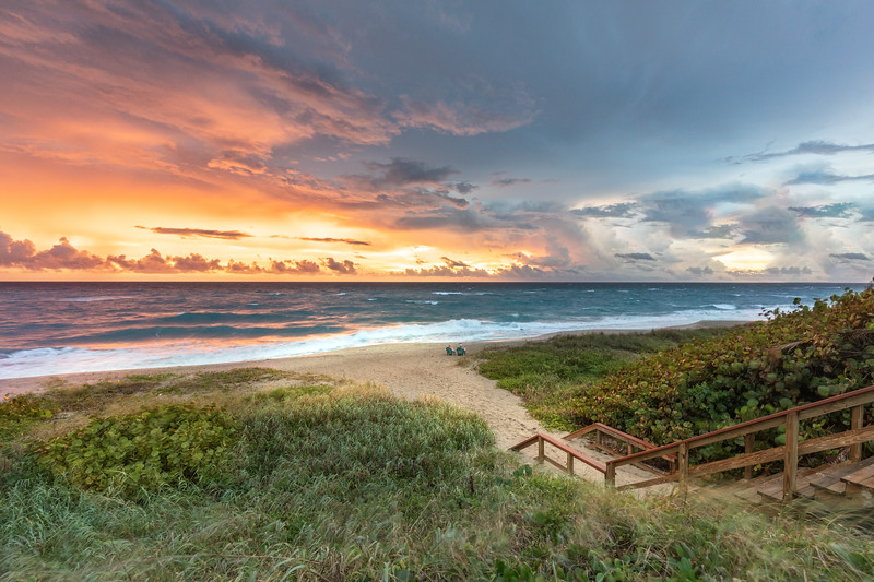 Vibrant sunrise in Juno Beach