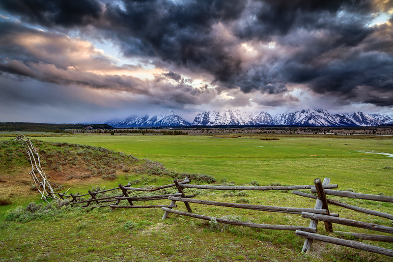 Fence and Tetons