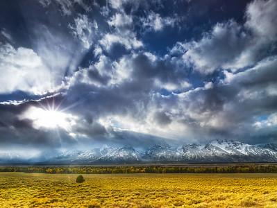 Breaking Storm over Grand Teton