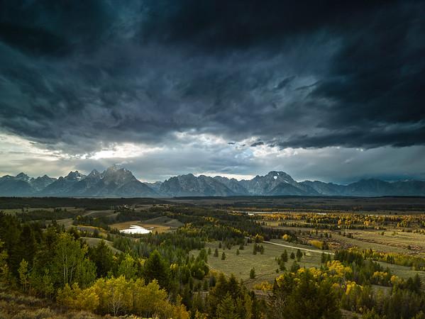 Storm over the Teton range