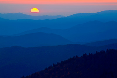 Sunset from Klingman's Dome, Great Smoky Mountain National Park