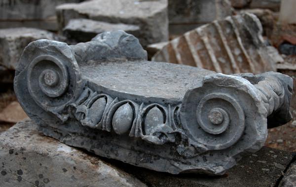 Turkey - Ancient city of Epheses<br /> Broken pieces of columns.