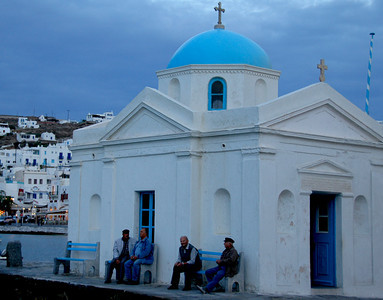 Mykonos A local church - one of many local gathering places.