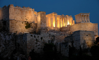 Athens - The Acropolis at Dusk