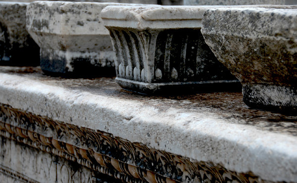 Turkey - Ancient city of Epheses<br /> Pieces from columns or pedestals.