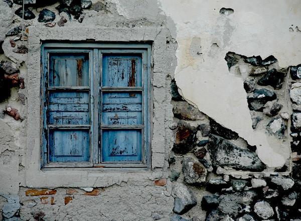 Santorini - Town of Oia<br /> Old windows.