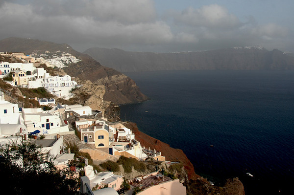 Santorini - Town of Oia<br /> Another view of the town built on top of the island.