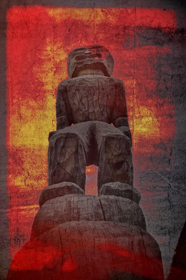 Puuhonua O Honaunau Ki'i totem