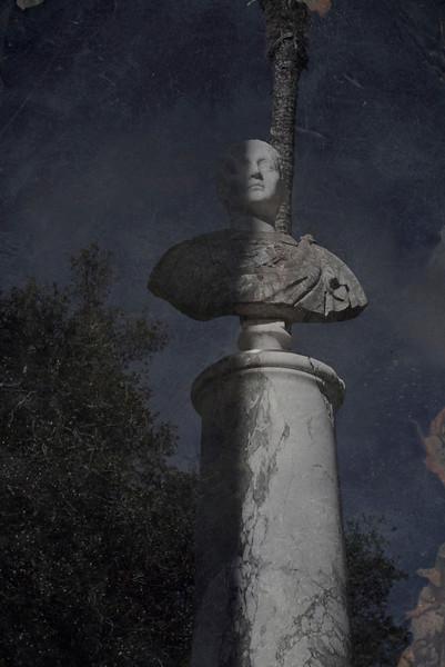 Shadow light upon statute