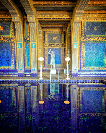 Shaded Blue Reflections - Indor pool