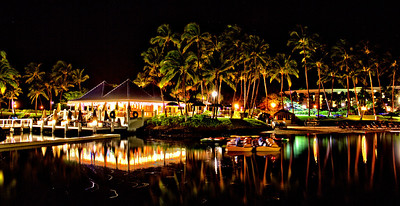 Night shot at the Hilton Waikoloa Village