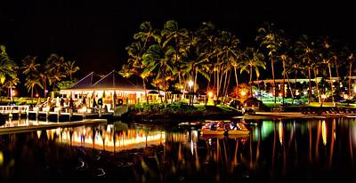 Night shot at the Hilton Waikoloa Village
