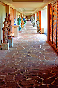Artwork along one of the many corridors at the Hilton Waikoloa Village