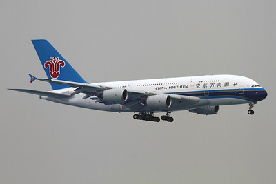 Reg: B-6138 Operator: China Souithern Airlines Type:  Airbus A.380-841 C/n: 054 Location:  Hong Kong - Chek Lap Kok (HKG / VHHH), China        Photo Date: 13 March 2012 Photo ID: 1300699