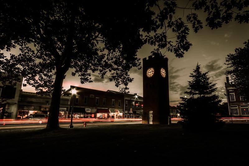 Hudson Clock Tower At Night