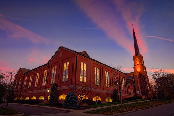 First Congregational Church Sunset