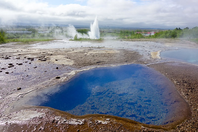 Geysir is not just the name of the world famous geyser in south-west Iceland, but also of the whole high-temperature geothermal area where it resides. The area includes a number of fumaroles, mud pots and hot springs over its 3 square km surface.