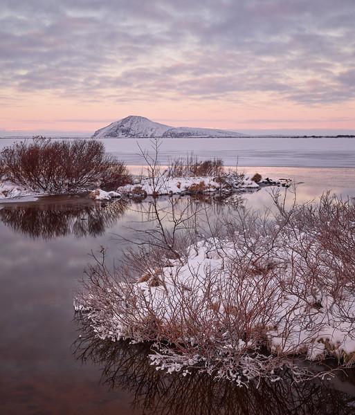 Winter Sunrise at Mývatn