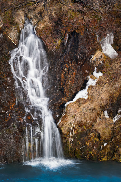 Small Waterfall in Hraunfossar