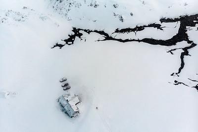 Landmannalaugar Hut, Aerial