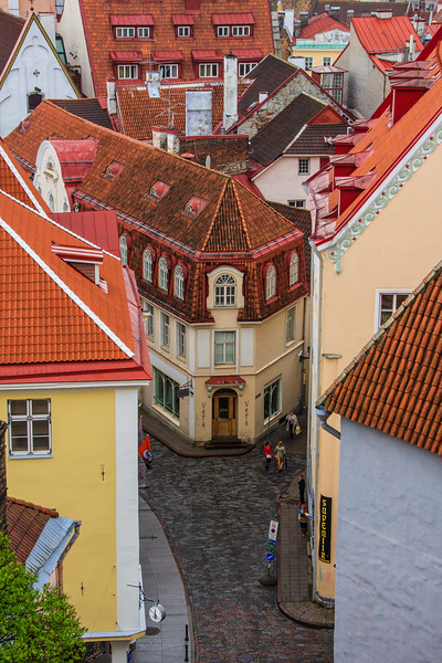 Tallinn streets from Toompea Hill