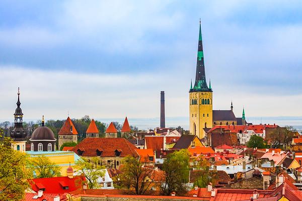View of Tallinn skyline from Toompea Hill