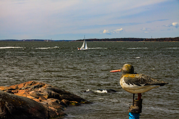 Looking out to the Baltic Sea from Suomenlinnan