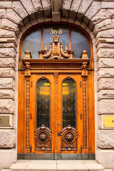 Beatiful Old Door in Helsinki