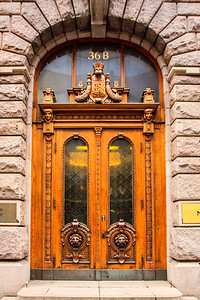 Beatiful Old Door in Helsinki