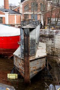 Old Ship Drydocked on Suomenlinnan