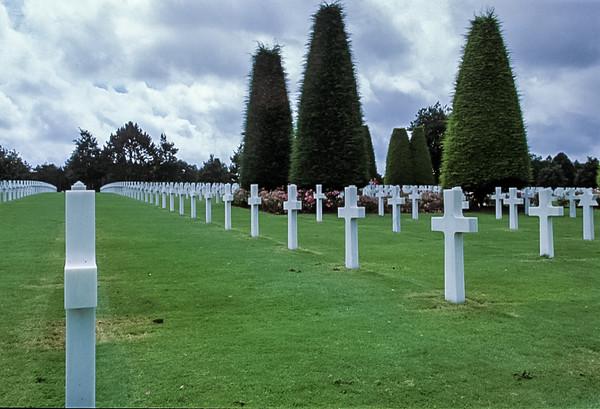 Crosses at American Cemetery