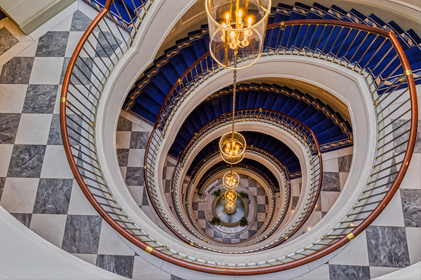 Sprial Staircase in Excelsior Hotel Ernst Cologne