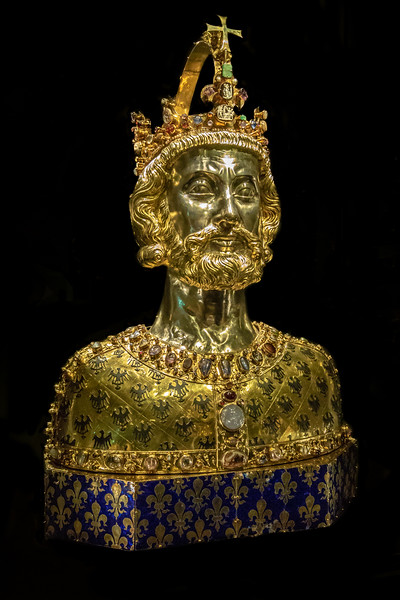 Bust of Charlemagne in Aachen cathedral treasury
