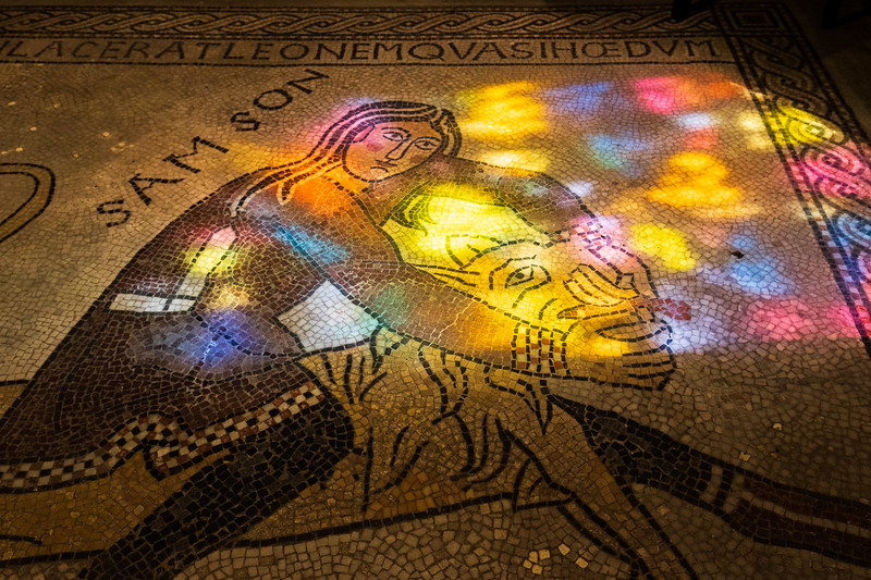 Sun Through Stained Glass