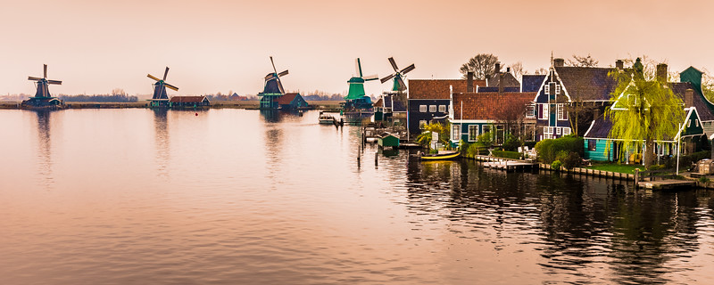Zaanse Schans from the Julianabrug