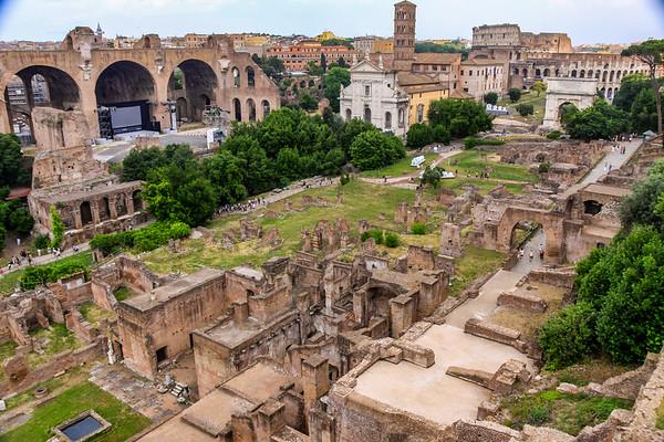 Roman Forum from Palatine Hill