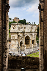 Arch of Constantine from the 2nd Level of The Colosseum
