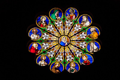 St Maria sopra Minerva Stained Glass over Altar