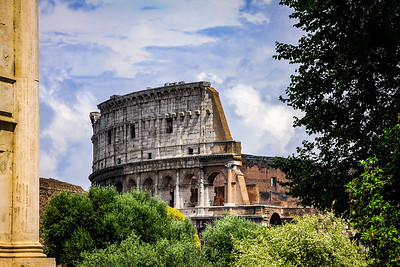 Top of the Colosseum from Palatine Hill