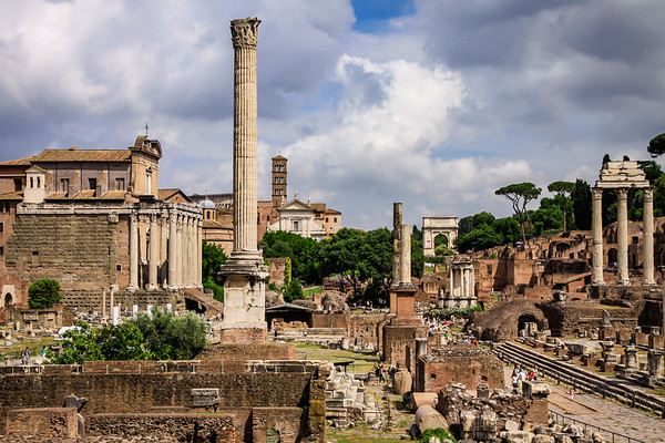 Roman Forum from below Capitoline Hill