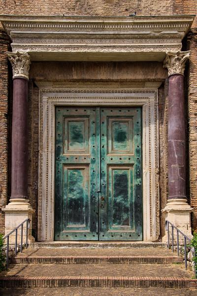 Original Bronze Doors to the Temple of Romulus