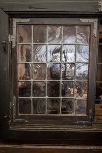 Original Glass Windows in Peter's Cabin
